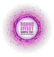 fireworks circle purple white with text vector image