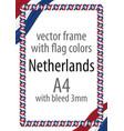 flag v12 netherlands vector image vector image