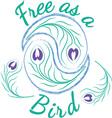 Free As A Bird vector image vector image