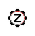gear solution logo letter z vector image vector image