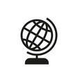 globe icon on white background vector image vector image