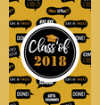 graduation class of 2018 party invitation poster vector image vector image
