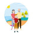 grandparents and grandson vector image vector image
