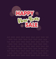 happy new year sale vector image vector image