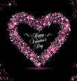 Happy Valentine Day card with rose glitters vector image vector image