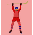 Hockey Player with a hockey stick and skates vector image vector image