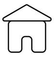 home house stream line icon vector image