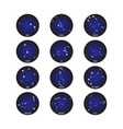 horoscope star dot zodiac in circle cosmos vector image