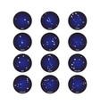 horoscope star dot zodiac in circle cosmos vector image vector image