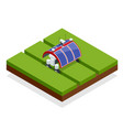 isometric automation smart farming on the field vector image vector image