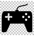 Joystick simple sign Flat style black icon on vector image vector image