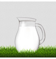 jug with grass border transparent background vector image vector image
