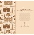 Landmarks of Egypt background vector image vector image