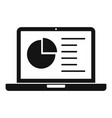lesson laptop icon simple style vector image vector image