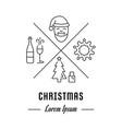 line banner christmas vector image