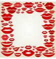 Lip a frame vector image vector image
