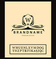 luxury vintage logo business sign label letter vector image vector image