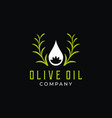 olive oil and flower logo design vector image vector image