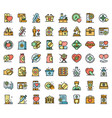 pharmacist icons set flat vector image vector image