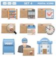 Postal Icons Set 4 vector image vector image