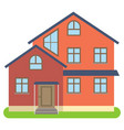 private house with red walls vector image vector image