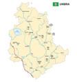 road map italian region umbria vector image vector image