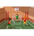 School soccer game Kids playing soccer vector image vector image