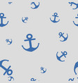 seamless pattern anchors vector image