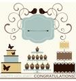 set celebration or holiday icons vector image