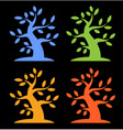 Set of Colorful Season Tree Bold icons vector image vector image