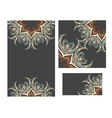 Set of ornamental invitattion cards vector image vector image