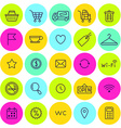 set of shop icons for web vector image