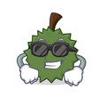 super cool durian character cartoon style vector image vector image