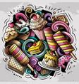 sweet food doodles vector image