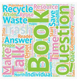 The Environmental Book on Everyone s Lips text vector image vector image