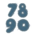 torn denim numbers vector image vector image