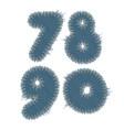 torn denim numbers vector image