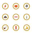 united kingdom icons set cartoon style vector image vector image
