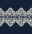 vintage lace border vector image vector image