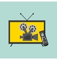 watch tv movie design vector image vector image