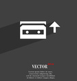 audio cassette icon symbol Flat modern web design vector image