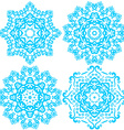 blue cute Christmas winter snowflakes vector image