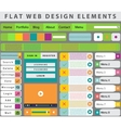 Web Design elements buttons icons vector image