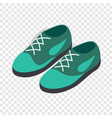turquoise shoes with laces isometric icon vector image