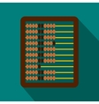 Abacus icon in flat style vector image vector image