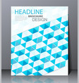 abstract digital business brochure vector image vector image