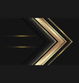 abstract gold arrow direction on black circle mesh vector image vector image