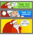 Banners ads Santa Claus pop art retro halftone vector image