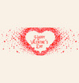 beautiful heart made with rose petal valentine vector image