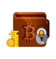 bitcoin wallet crupto currency flat style vector image vector image